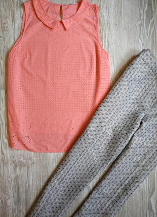 Лососевая блузка из прошвы george размер 22