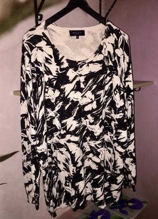 Джемпер свитер черно белый