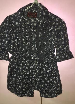 Летняя лёгкая блузка рубашка из натуральной ткани