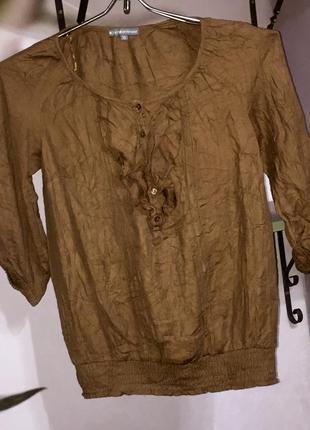 Лёгкая летняя блузка из натуральной ткани