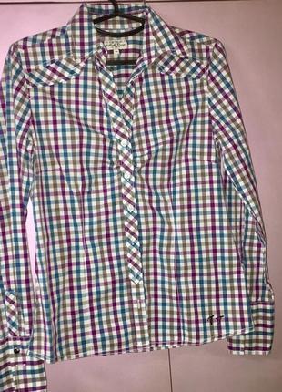 Рубашка женская в клетку из натуральной ткани tom tailor