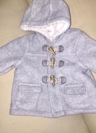 Флисовая кофта куртка толстовка с капюшоном серая на искусстве...