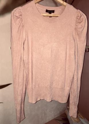 Легкая кофта свитер джемпер пудрового цвета
