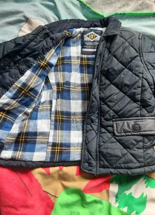 Куртка демисезонная бомбер стеганая