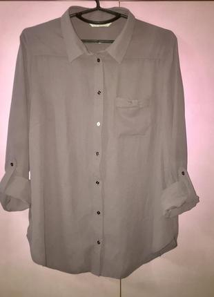 Блузка рубашка серого мышиного цвета рукав - трансформер