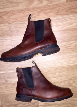 Мужские сапоги ботинки челси из натуральной кожи от timberland