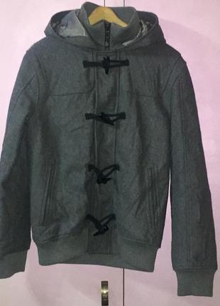 Шерстяная мужская куртка серого цвета