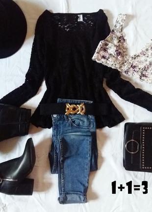 Didided базовая кофточка xs-s кружево гипюр баска блузка пулов...