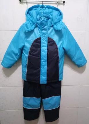 Зимний костюм, комбинезон еврозима,куртка и штаны р.104 +/- 4года