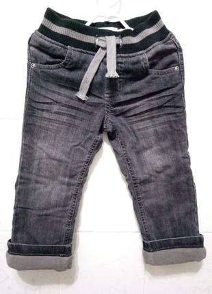 Новые Термоджинсы р.92 на+/-2 года Зимние джинсы на флисе+Подарок