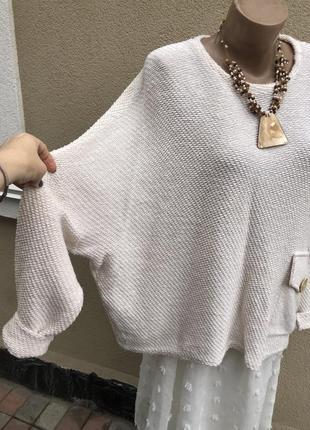 Фактурная кофта в бохо,этно стиле,трикотаж блуза хлопок,ассиме...