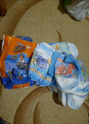 Памперсы трусики для купания huggies 5-6 ,12-18 кг15шт.