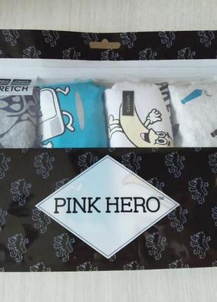 Комплект (4 шт) мужского нижнего белья pink hero