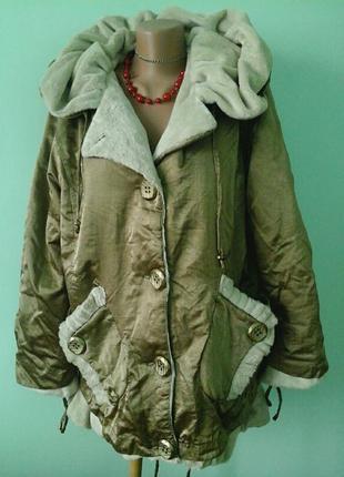 Демисезонная куртка s-art, золотого цвета, р.50/XL