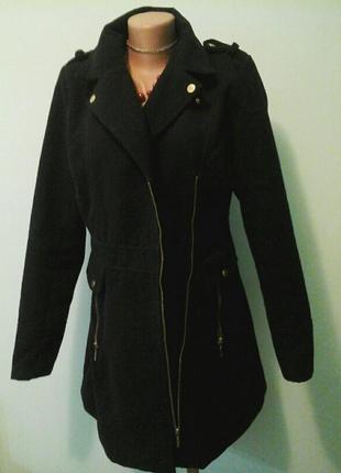 Шерстяное пальто cluillin, на молнии