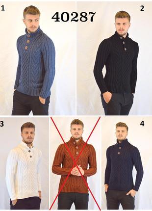 Теплый мужской Турецкий свитер Lee Ecosse, 70% шерсть 30% акрил