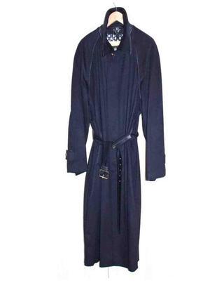Мужское пальто синий кашемир кожа люкс бренд brioni (italy) ор...