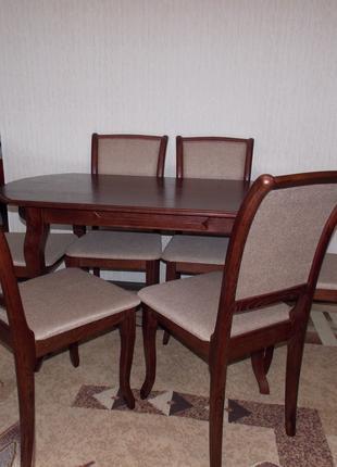 Обеденный стол с стульями с ясеня