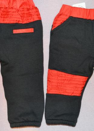 Теплые штаны, на флисе спортивные штаны на 6 мес.
