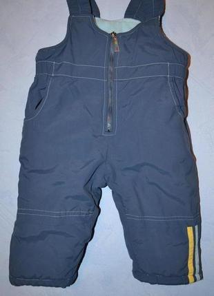 Теплый комбинезон, штаны рост 68 см