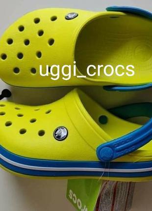 Детские крокс crocs kidstennis ball green/ocean c7,8,9,10,11,1...