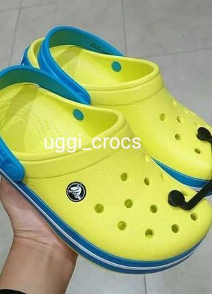 Детские крокс сабот crocs kids tennis ball green/ocean c7,8,9,...