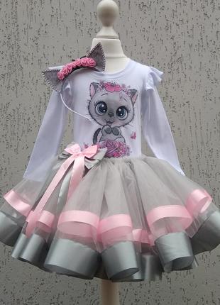 Карнавальный костюм киці платье кошки