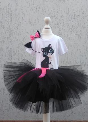 Костюм чорної киці кастюм кошки платье кошки карнавальный костюм
