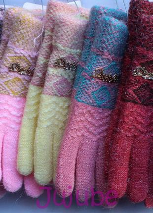 Зимние перчатки шерсть/акрил
