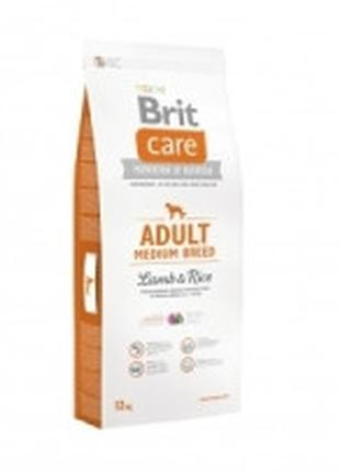 Brit Care Adult Medium Breed Lamb and Rice корм для собак сред...