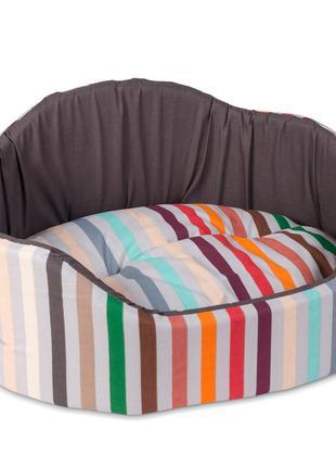 Лежак для кошек и собак Коралл 1 коричневый ТМ Природа 46х36х24см