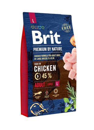 Brit Premium by Nature Adult L корм для собак крупных пород, 8кг