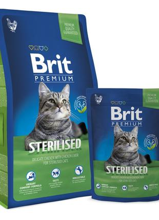 Brit Premium Cat Sterilized корм для стерилизованных кошек с к...