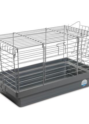 Клетка Кролик 50 для грызунов хром-серая ТМ Природа 50х27х30см