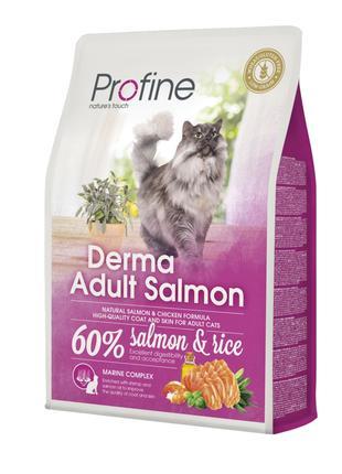 Сухой корм Profine Cat Derma для длинношерстных кошек 2кг