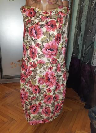 Льнянное платье