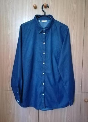 Джинсовая рубашка john baner