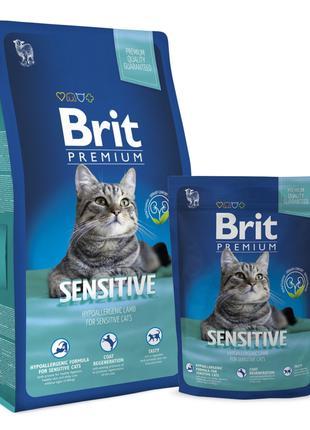Brit Premium Cat Sensitive корм для кошек с чувствительным пищ...
