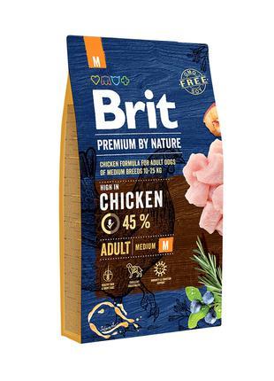 Brit Premium by Nature Adult M корм для собак средних пород, 8кг