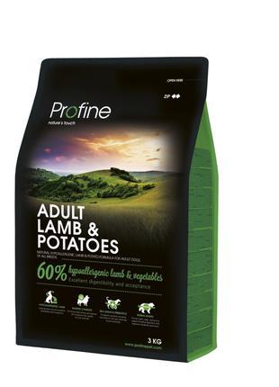 Profine Adult Lamb and Potatoes корм для взрослых собак с ягне...