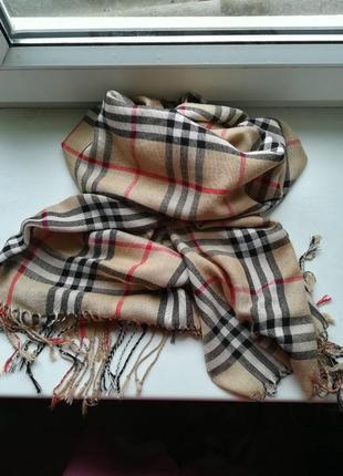 Шикарный модный шарф палантин в стиле burberry