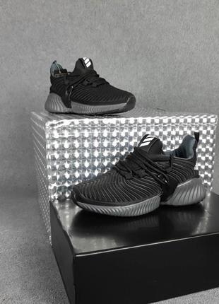 Кроссовки женские черные на серой подошве адидас adidas