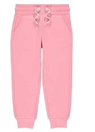 Теплые штаны-джоггеры на флисе 128-134 george, англия