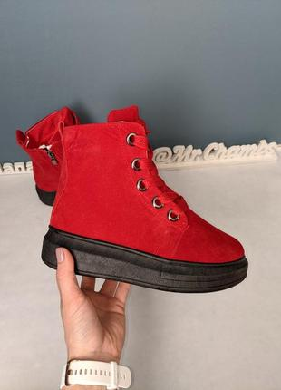 Зимние женские ботинки сапоги