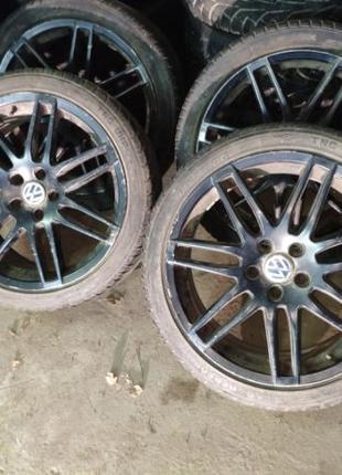 Легкосплавные диски Wolkswagen skoda 5/112 R18 колеса титаны