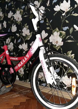 Велосипед Pride KELLY 16 ROSE-WHITE