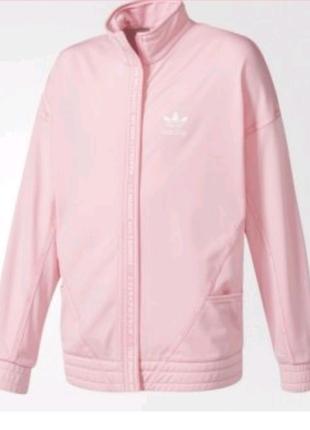 Джемпер Adidas Originals нежно-розового цвета с логотипом