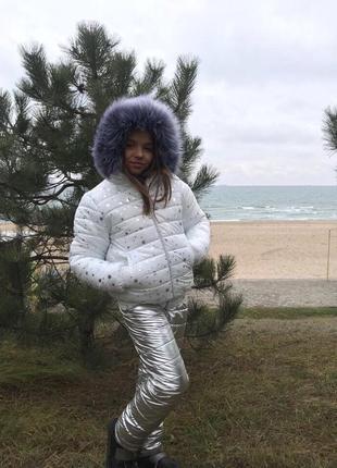 Шикарный зимний костюм комбинезон на девочку,