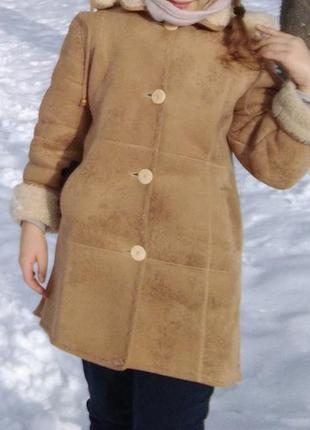 Качественная дубленка шуба куртка парка