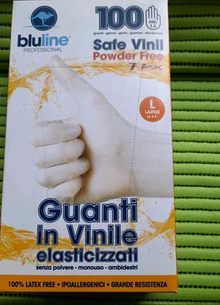 Виниловые перчатки, L,1пачка